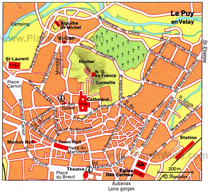 Le Puy en Velay Map - Tourist Attractions