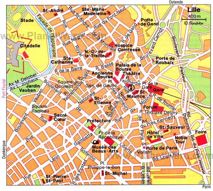Lille Map - Tourist Attractions