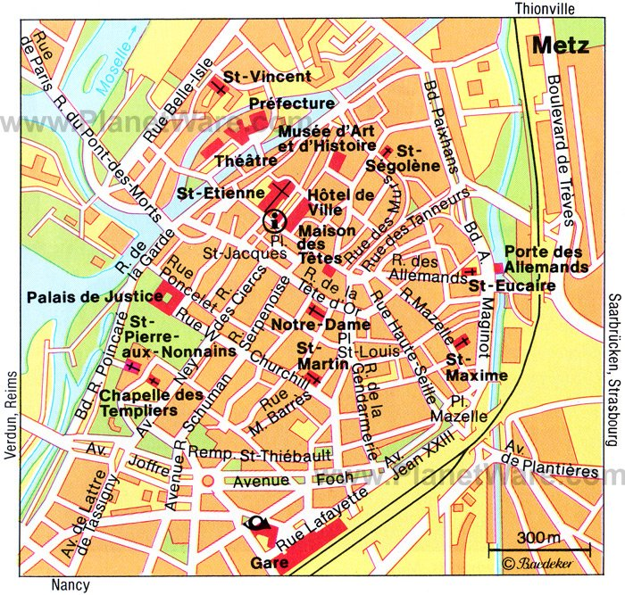 12 Top Tourist Attractions in Metz and Easy Day Trips – Paris France Tourist Attractions Map