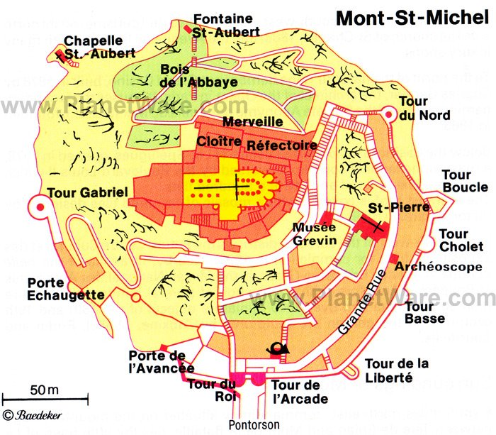 Mont-St-Michel Map - Tourist Attractions