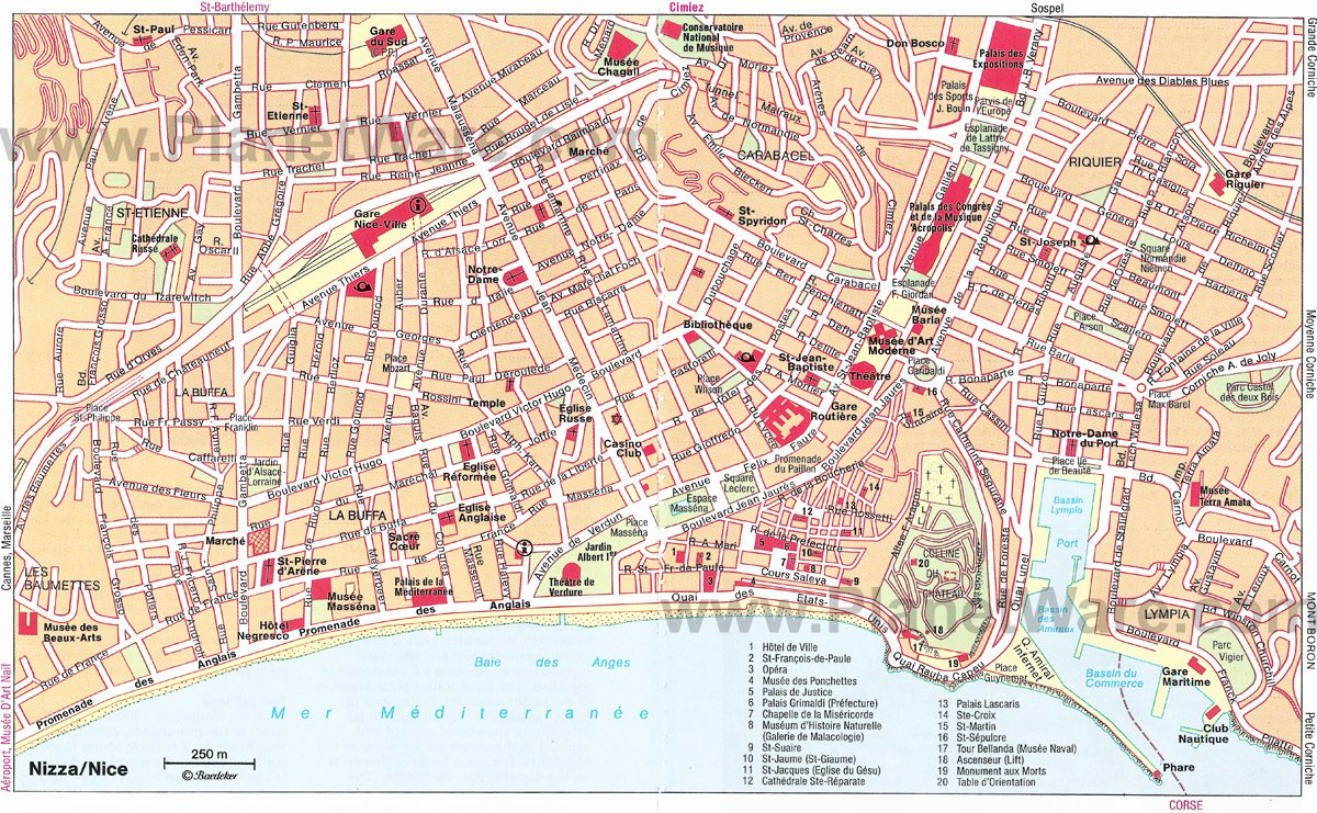 10 TopRated Tourist Attractions in Nice – Map Paris Tourist Attractions