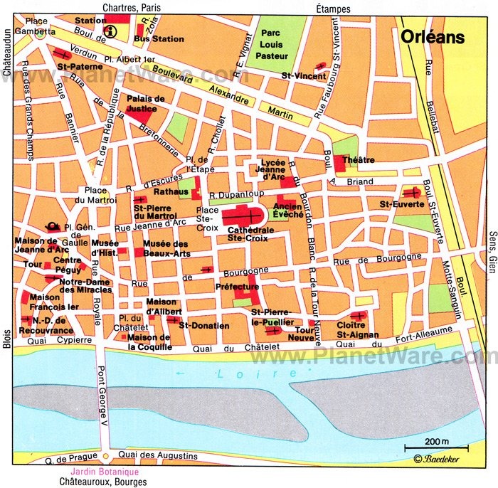 Orléans Map - Tourist Attractions