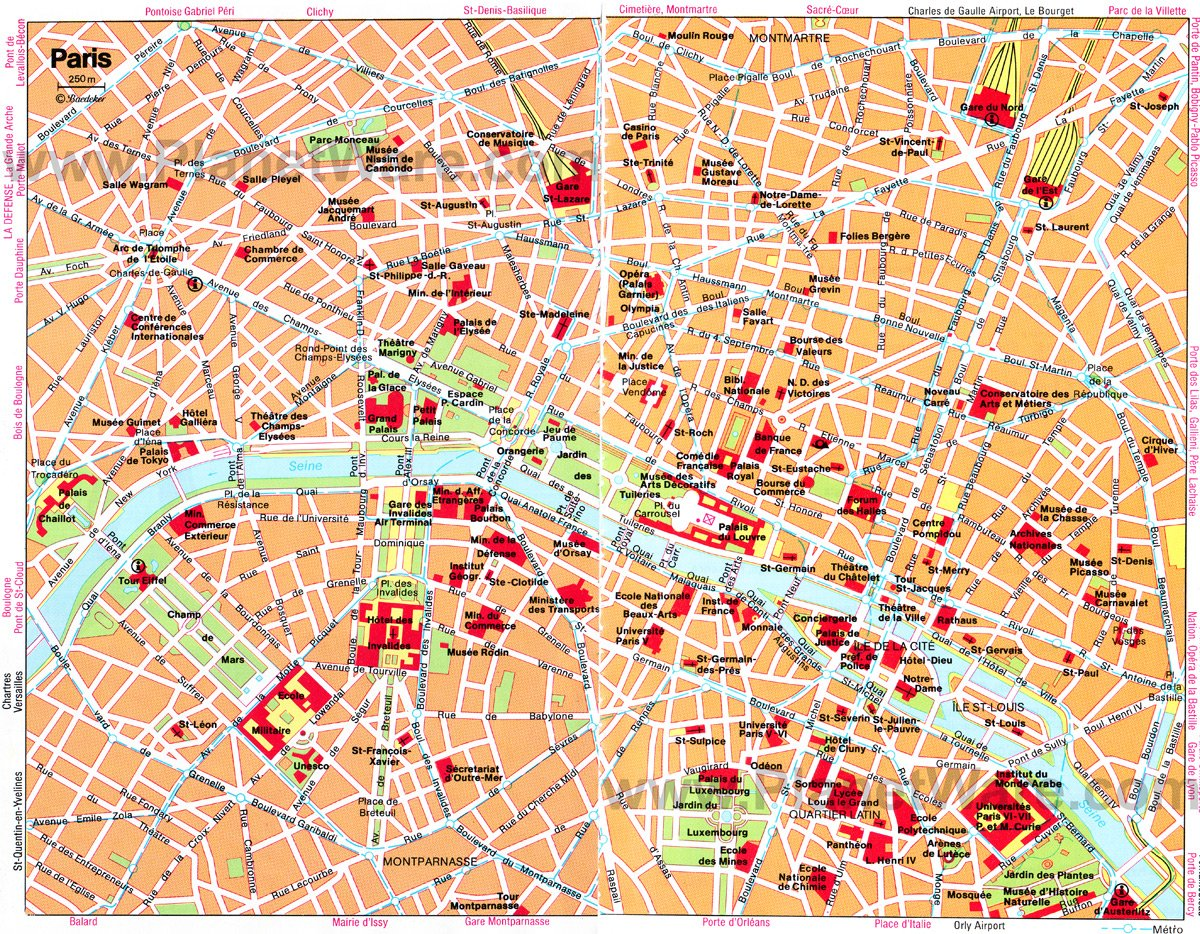 Paris Map - Tourist Attractions