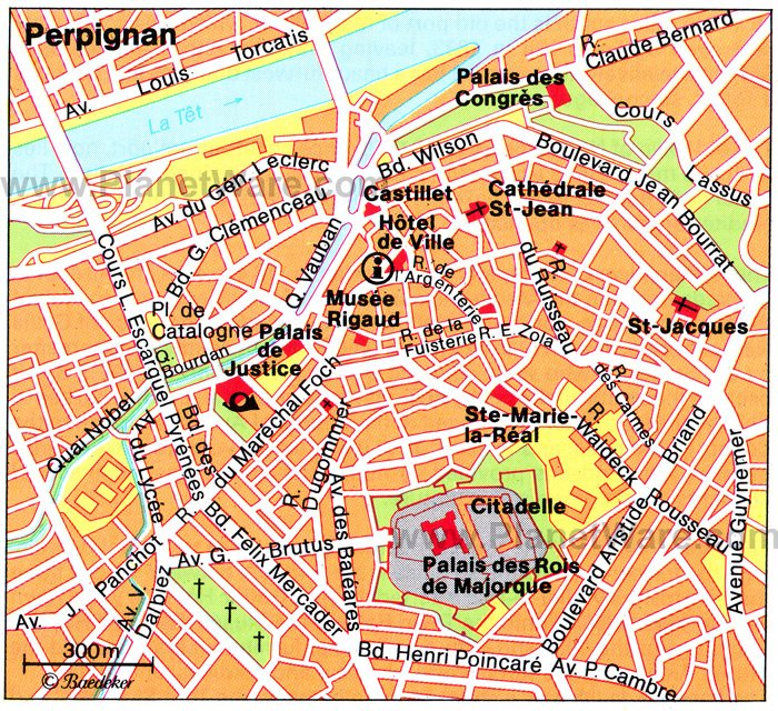 Perpignan Map - Tourist Attractions