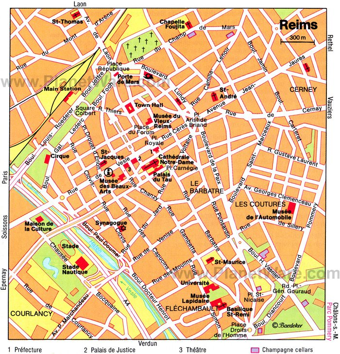 Reims Map - Tourist Attractions