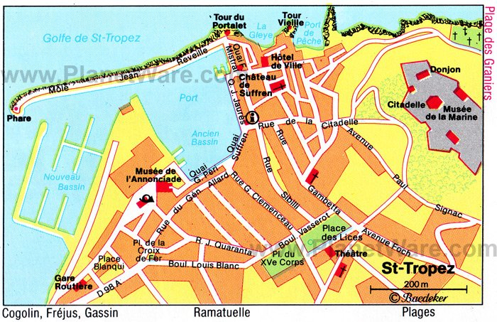 Saint Tropez Map - Tourist Attractions