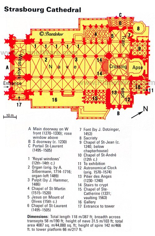 Strasbourg Cathedral - Floor plan map
