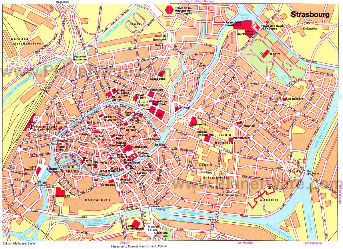 Strasbourg Map - Tourist Attractions