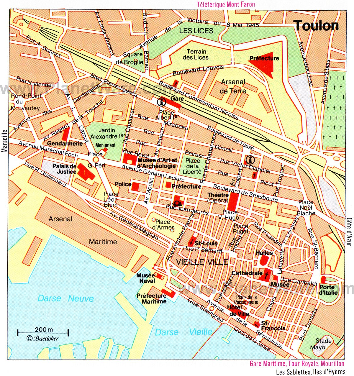Toulon Map - Tourist Attractions