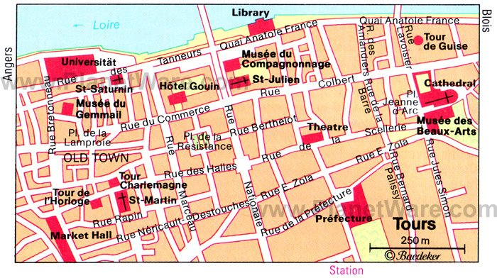 Tours Map - Tourist Attractions
