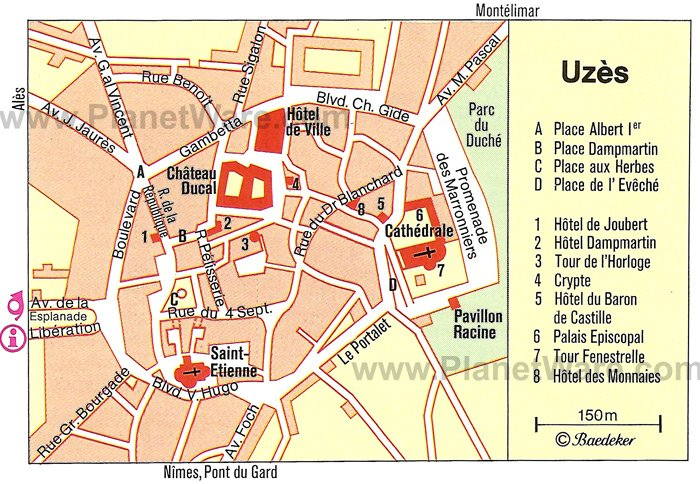 Uzès Map - Tourist Attractions