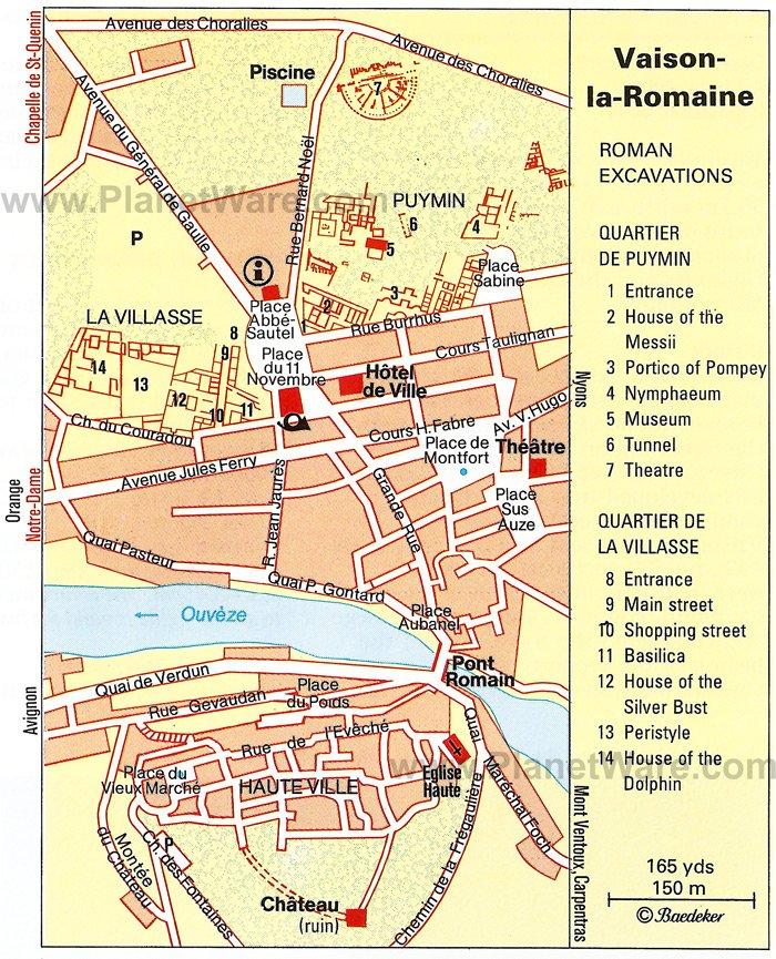 Plan De La Ville De Nyons