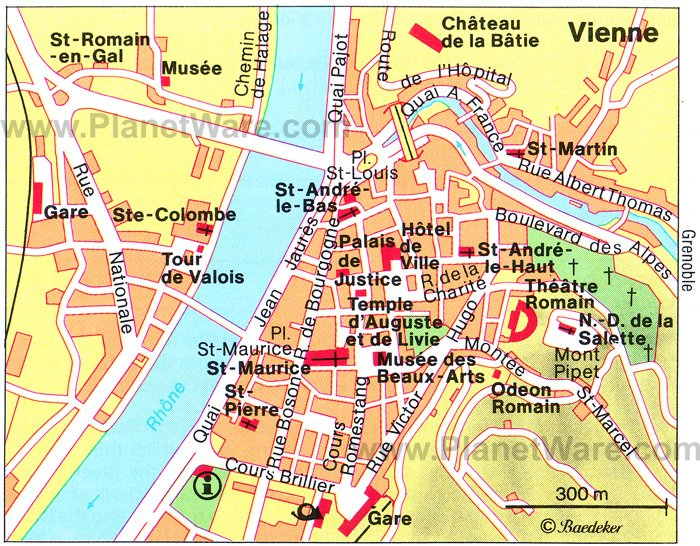 Vienne Map - Tourist Attractions