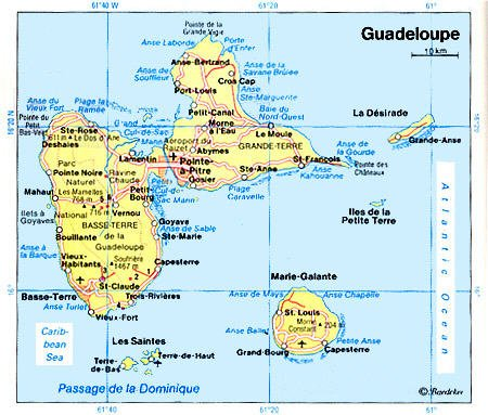 Windward Islands Map. A part of the Windward Islands