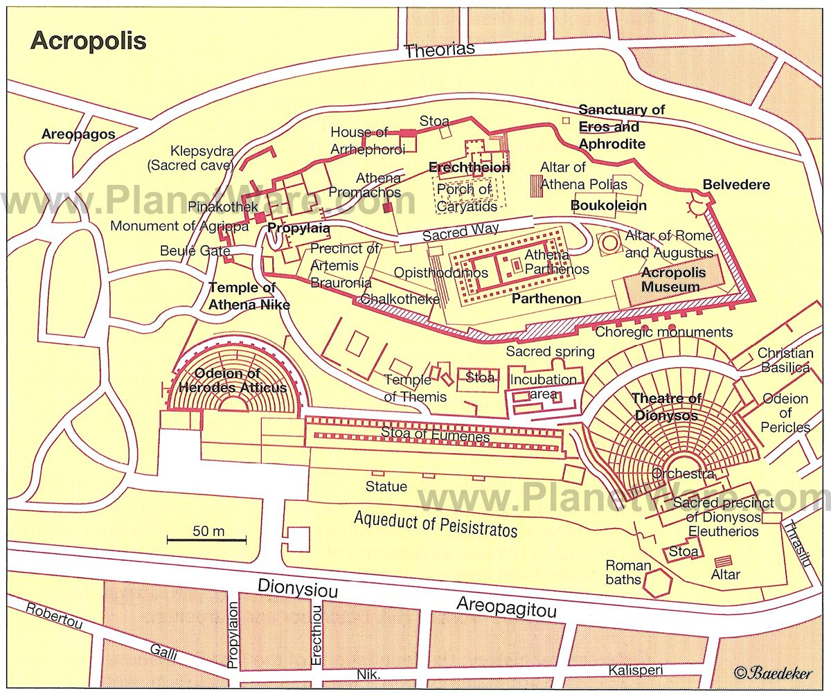Exploring the Acropolis in Athens A Visitors Guide – Athens Tourist Attractions Map