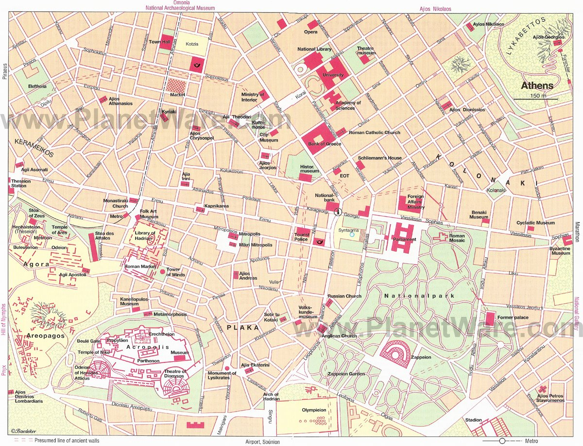 Athens Map - Tourist Attractions