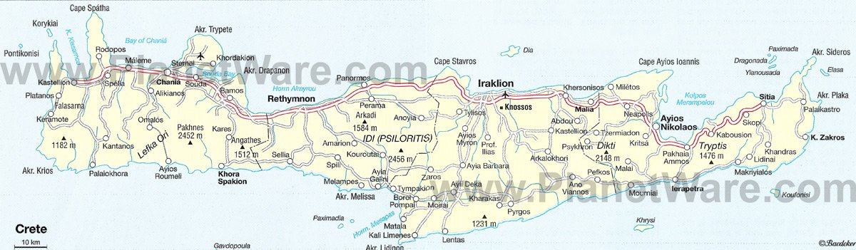 8 TopRated Tourist Attractions on Crete – Map Of Rome Showing Tourist Attractions