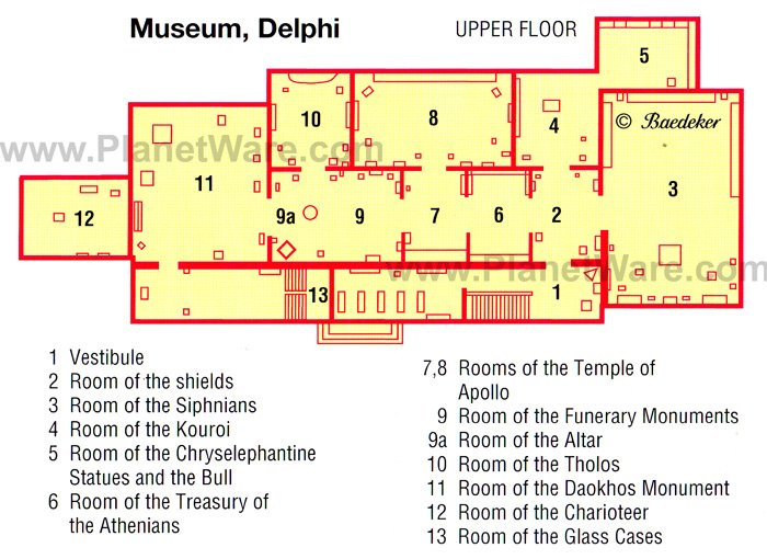 Delphi - Museum - Floor plan map