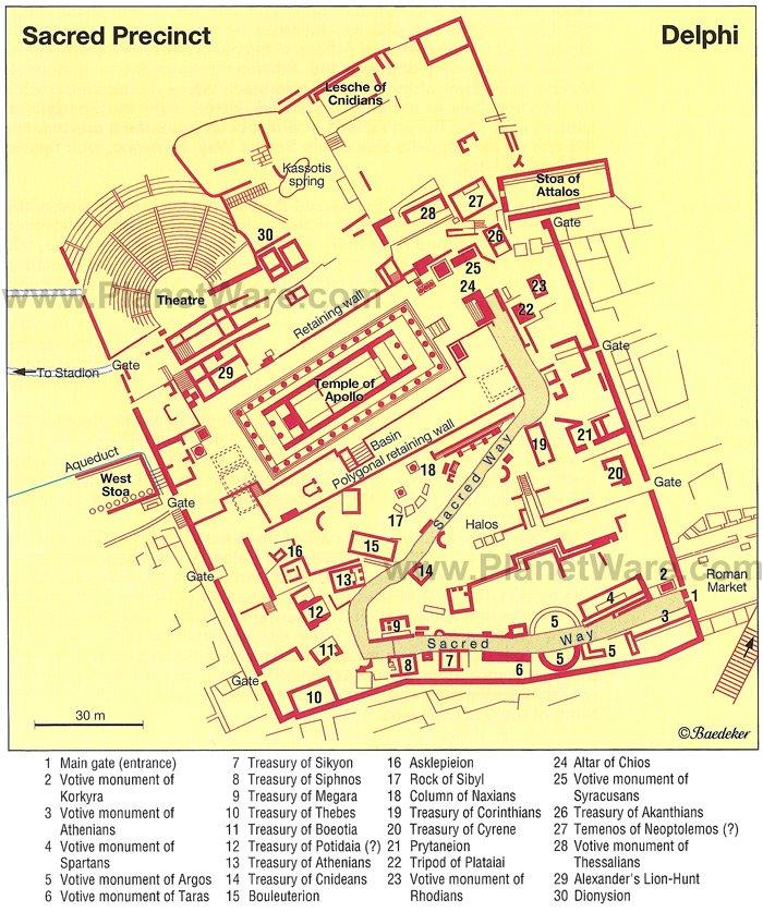Mapa de Delfos