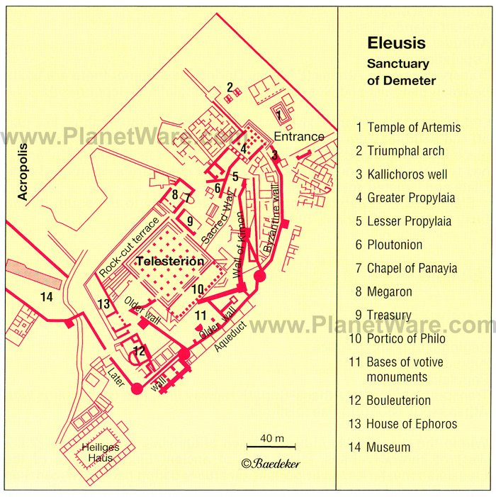 Eleusis Map - Tourist Attractions