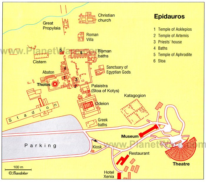 Epidauros - Floor plan map
