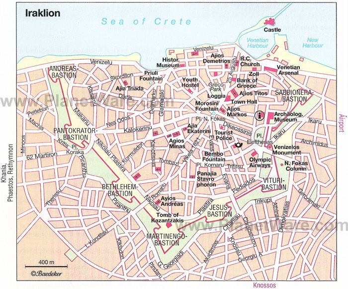 Santorini Map - Tourist Attractions