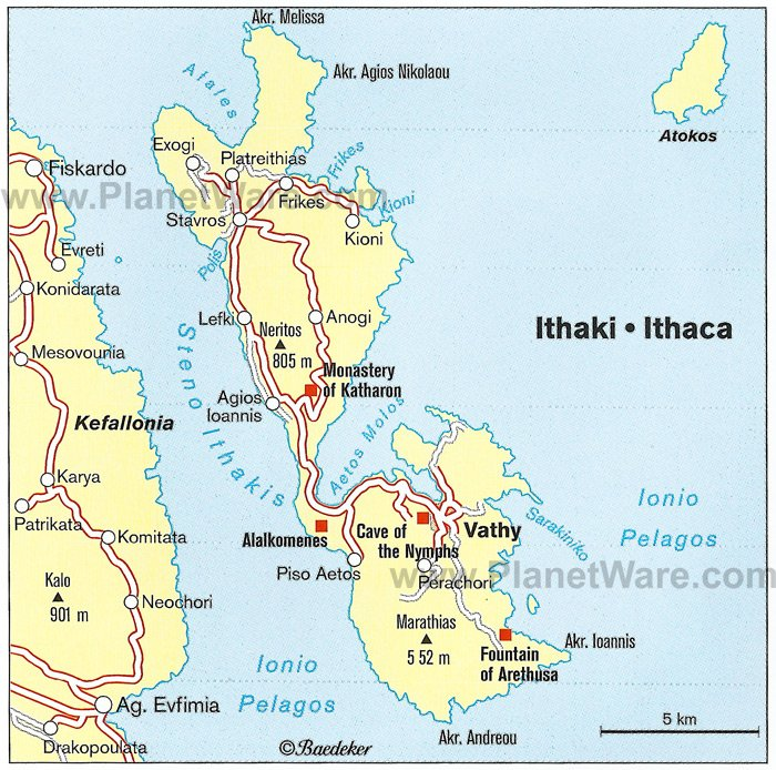 Ithaca Map - Tourist Attractions