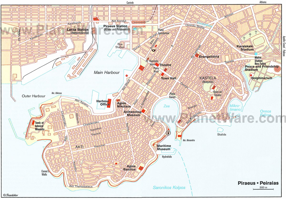 Piraeus Map - Tourist Attractions