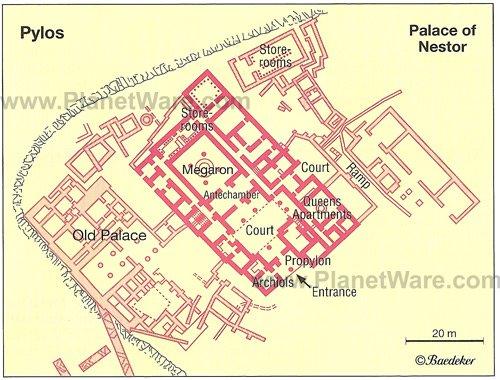 Palacios  y casas Pylos-palace-of-nestor-map