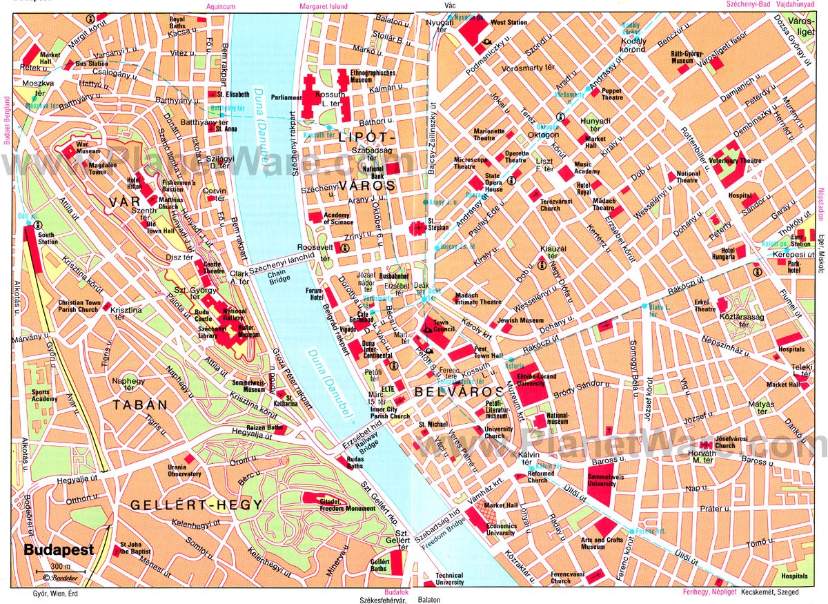 Budapest Map - Tourist Attractions