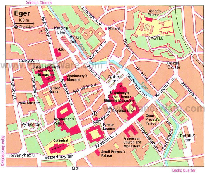 Eger Map - Tourist Attractions