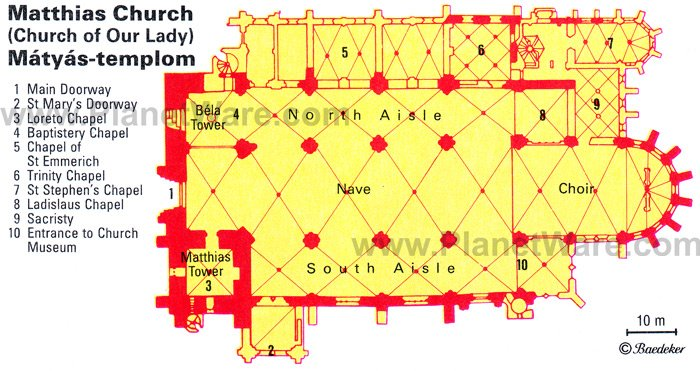 Matthias Church - Floor plan map