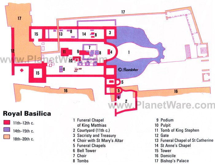 Royal Basilica - Floor plan map