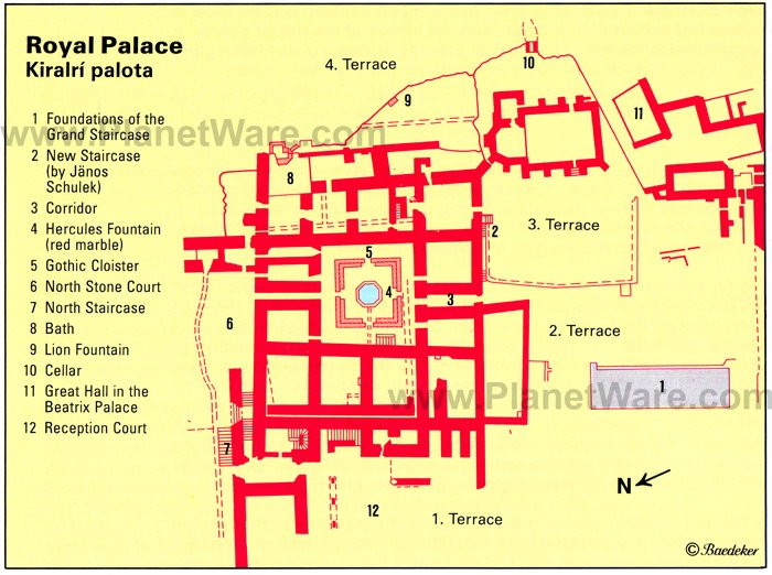 Royal Palace - Kiralri Palota - Floor plan map