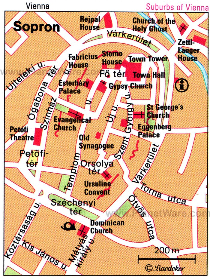 Sopron Map - Tourist Attractions