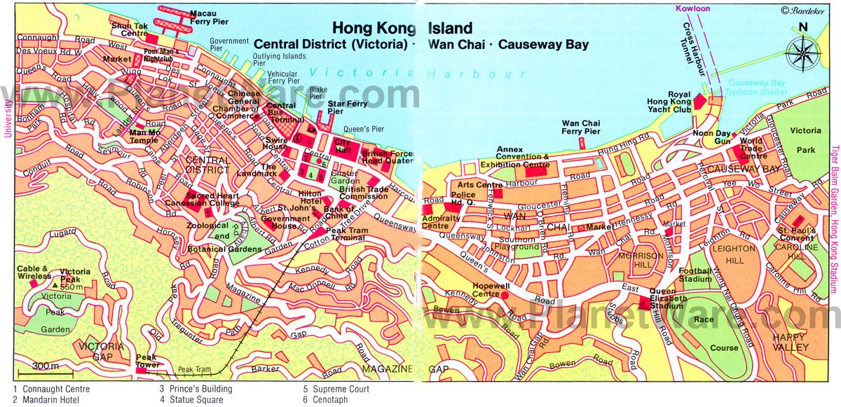 Map Of Hong Kong Island – Hong Kong Tourist Attractions Map
