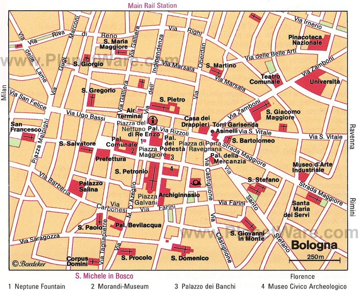 10 TopRated Tourist Attractions in Bologna – Florence Tourist Attractions Map