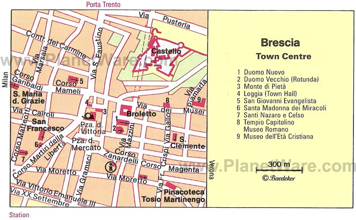 Brescia Map - Tourist Attractions