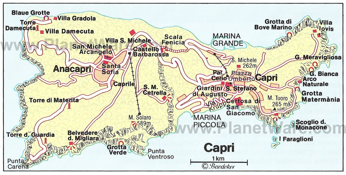 11 TopRated Tourist Attractions in Capri – Italy Tourist Attractions Map