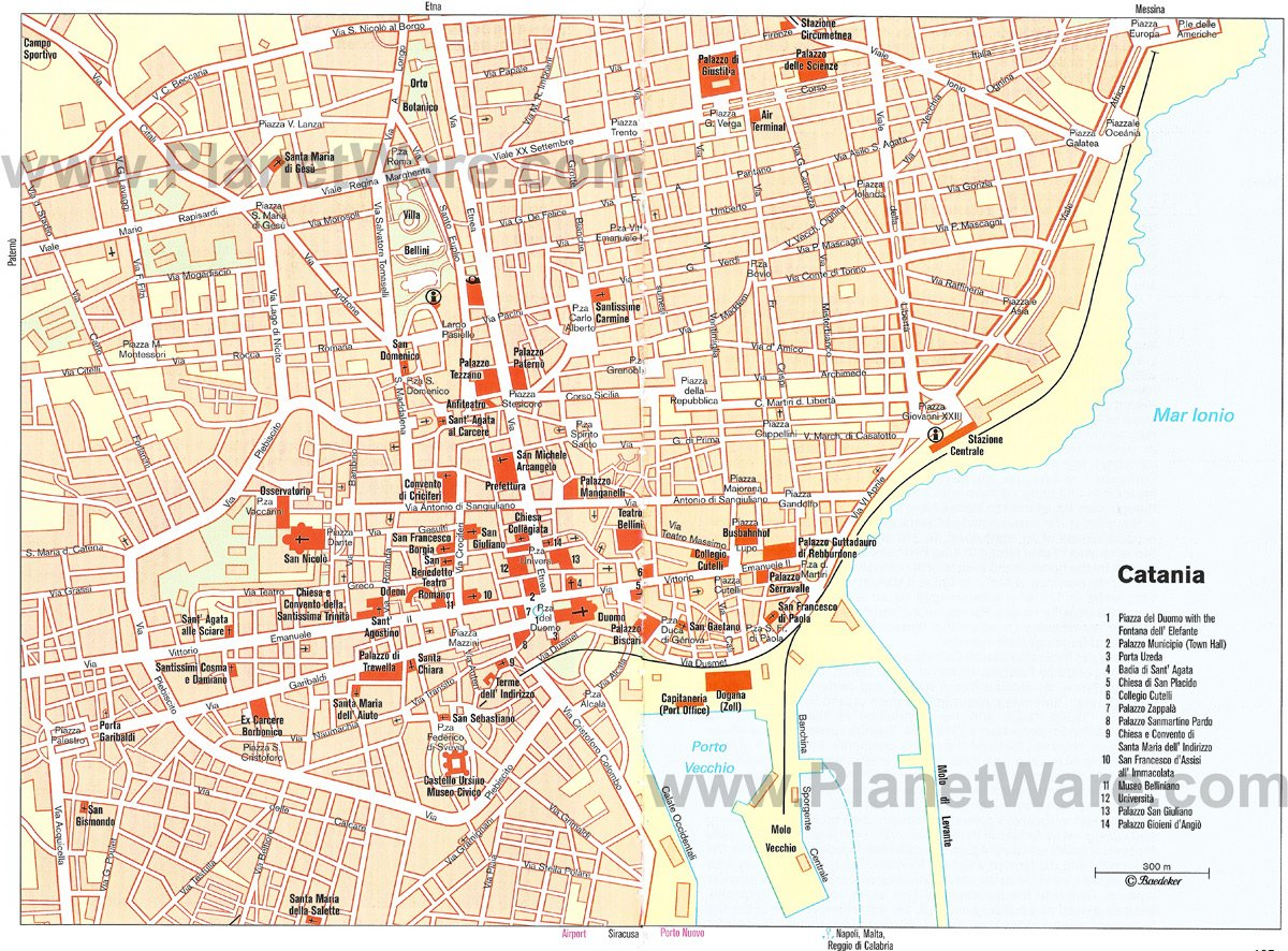 10 Top Tourist Attractions in Catania and Easy Day Trips – Map Of Rome Showing Tourist Attractions