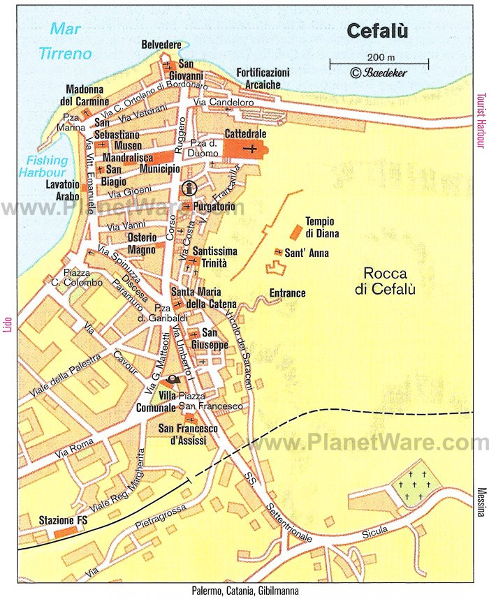 Cefalù Map - Tourist Attractions