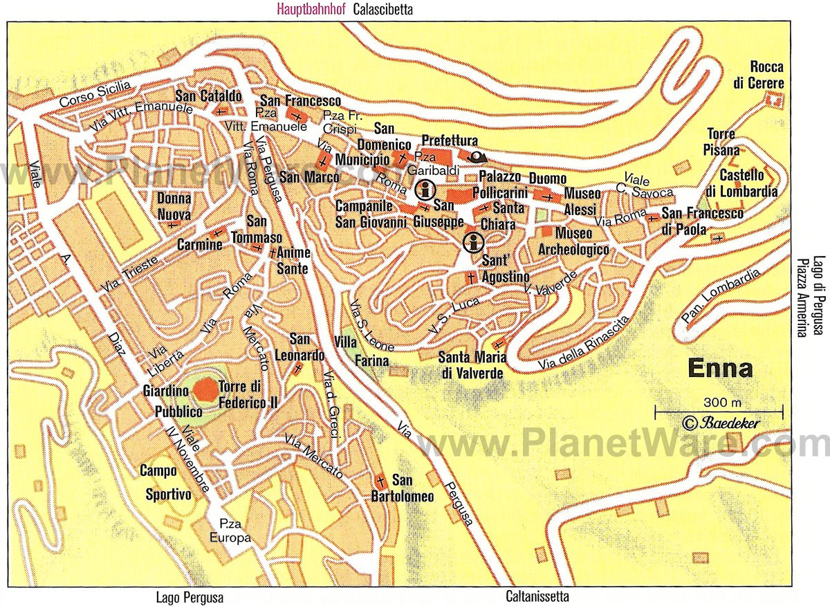Enna Map - Tourist Attractions