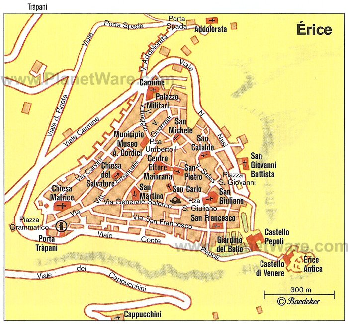 Érice Map - Tourist Attractions