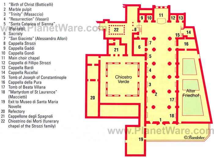 Some attractions within Florence - Santa Maria Novella Map: