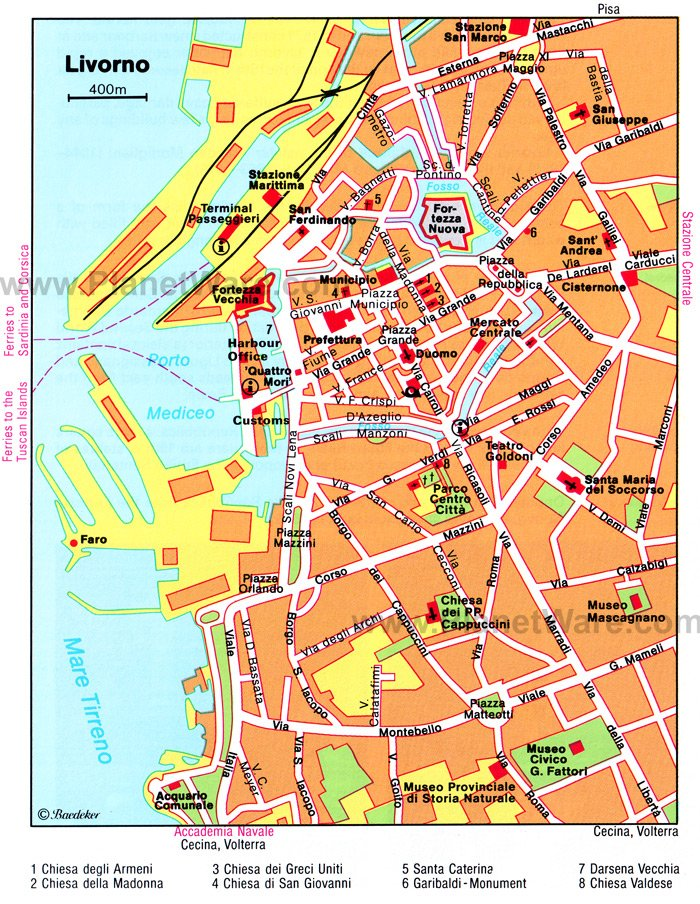 Livorno Map - Tourist Attractions