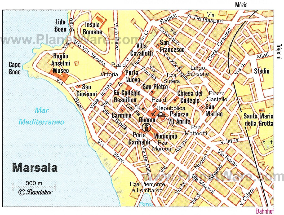 Marsala Map - Tourist Attractions