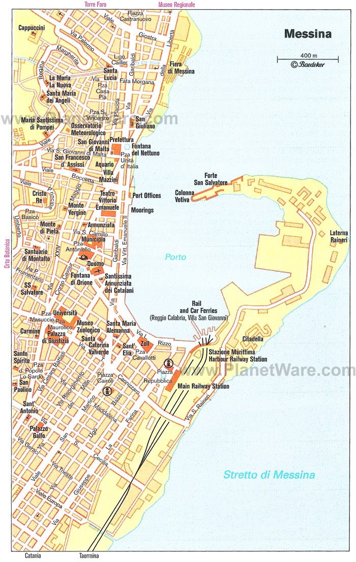 Messina Map. Located on Sicily, Messina is a city with a long history