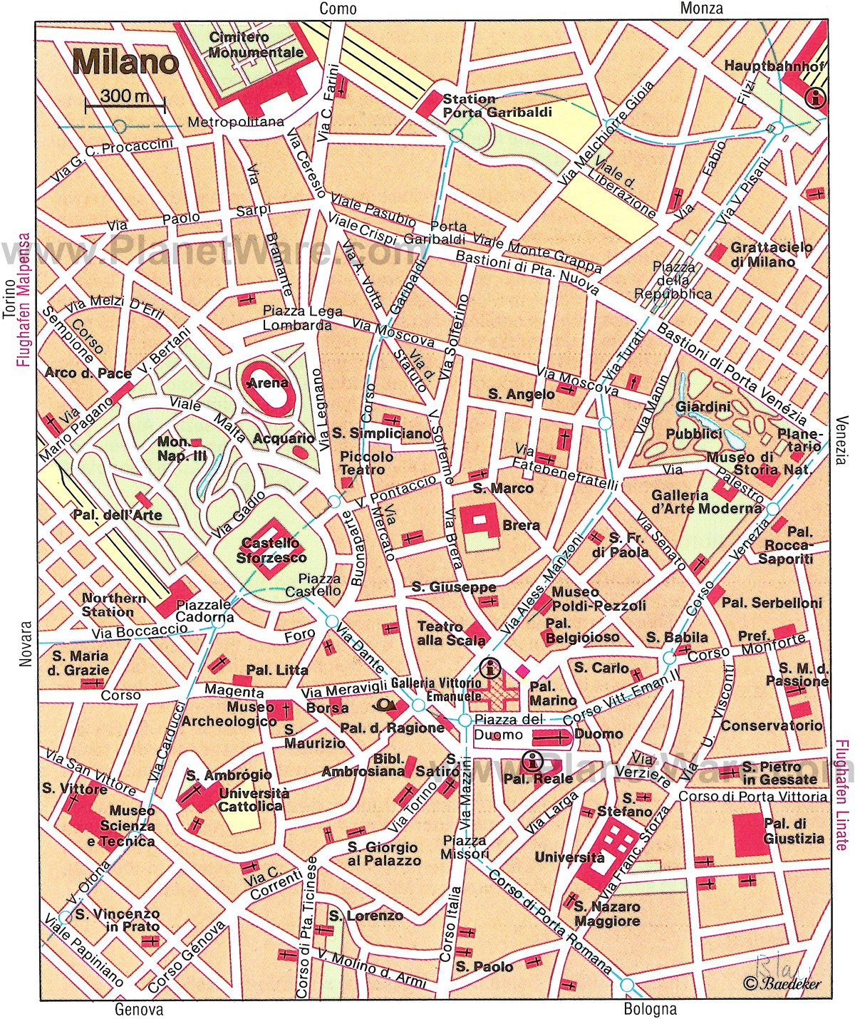 Milan Map - Tourist Attractions