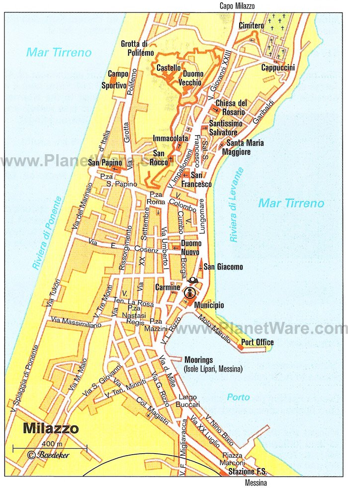 Milazzo Map - Tourist Attractions