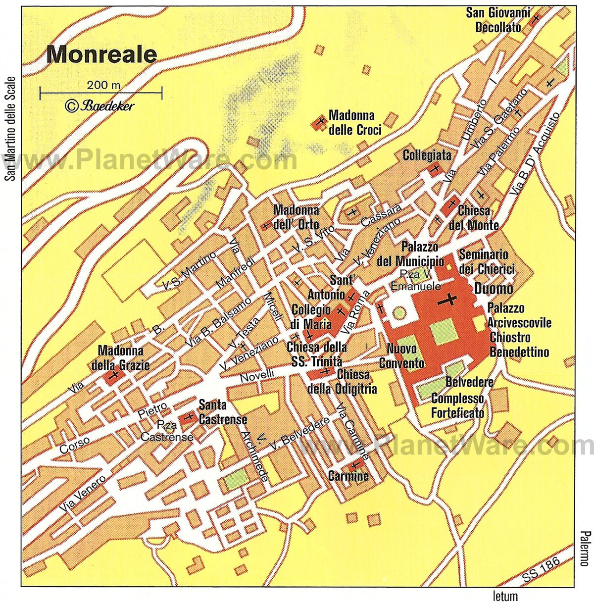 Monreale Map - Tourist Attractions